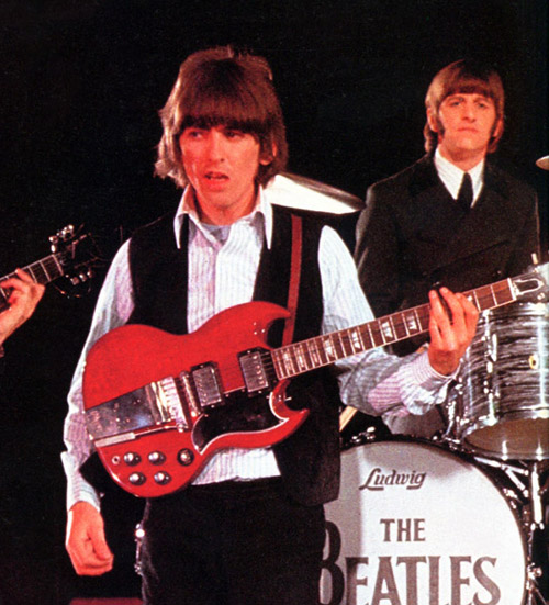 In 1966 George Harrison Acquired A Gibson SG Standard 1964 Model Which He Can Be Seen Playing The Photograph Above Used It As His Main Guitar