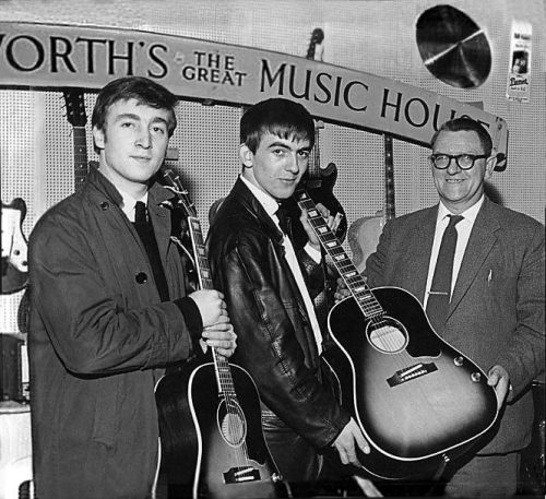 Lennon and Harrison J160e September 10, 1962